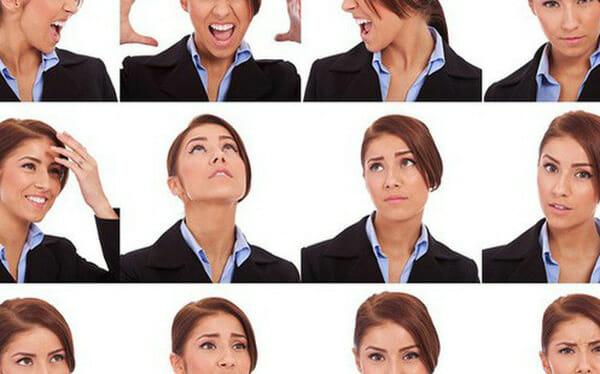 Các động tác cử động đầu cũng là biểu hiện của body language